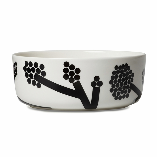 Marimekko Hortensie Black/White Serving Bowl