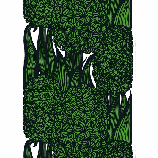 Marimekko Hyasintti Green Fabric Repeat
