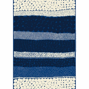 Marimekko Jurmo Blue / White Cotton Fabric