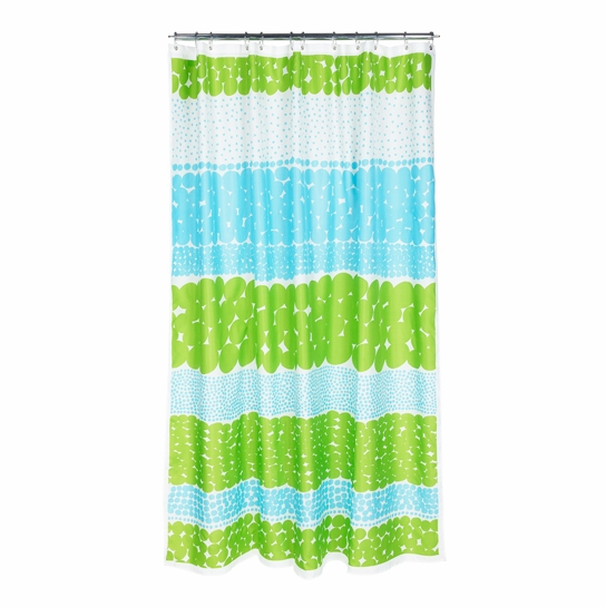 Marimekko Jurmo Turquoise Long Shower Curtain