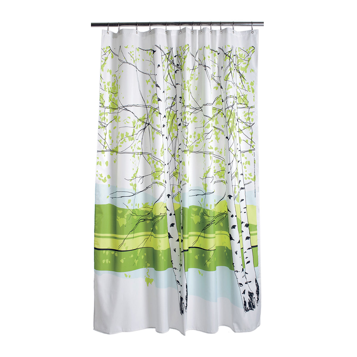 fabric blue light kaiku black cotton en green curtains com marimekko