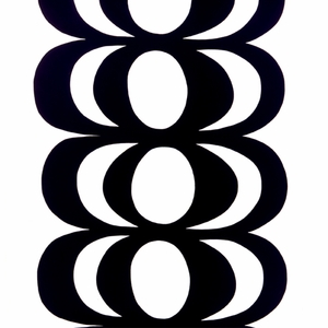 Marimekko Kaivo Black/White Fabric Repeat