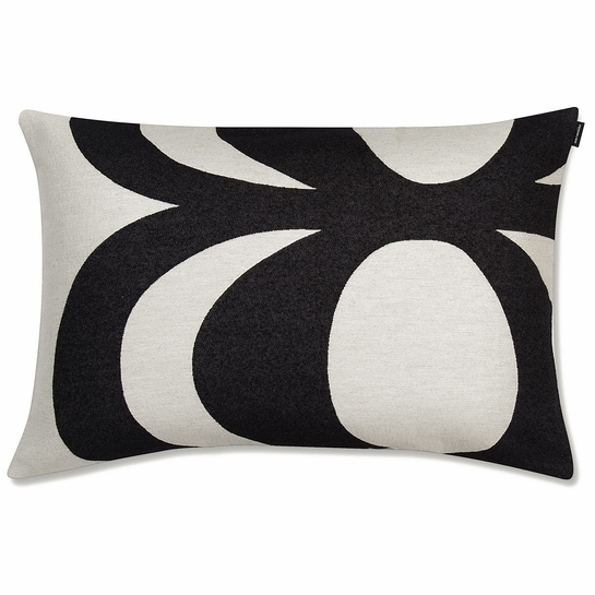 Marimekko Kaivo White / Black Lounge Pillow
