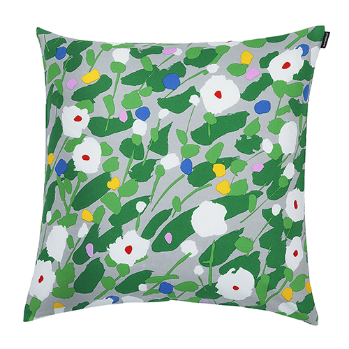 Marimekko Keshein Grey/Green Throw Pillow - Marimekko Fabric & Throw Pillow Sale