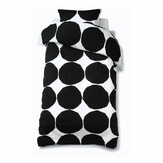 Marimekko Kivet Black / White King Pillowcase