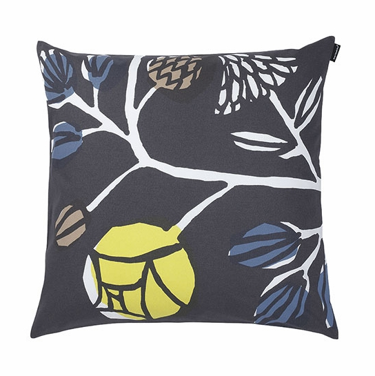 Marimekko Kranssi Grey Throw Pillow