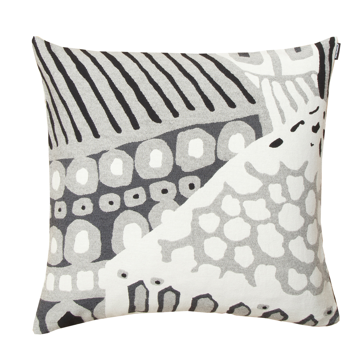 Jacquard Throw Pillows : Marimekko Kumiseva Grey / White / Black Jacquard Throw Pillow - Holiday Home Accents
