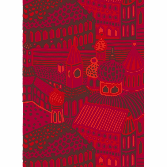 Marimekko Kumiseva Red Fabric Repeat
