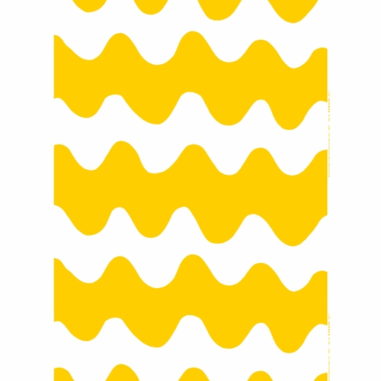 Marimekko Lokki White / Yellow Fabric