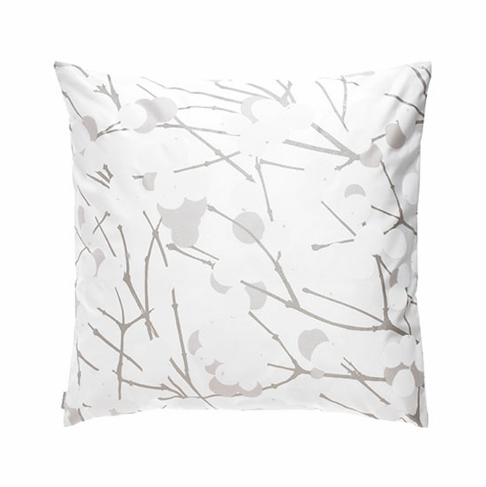 Marimekko Lumimarja White Silver Throw Pillow Marimekko Throw
