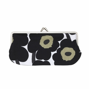 Marimekko Mini Unikko Black Eyeglass Case