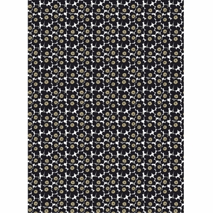 Marimekko Mini-Unikko Black Fabric