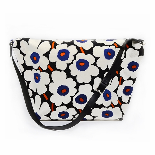 Marimekko Mini Unikko Blue / Orange Maria Bag