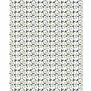 Marimekko Mini-Unikko Fabric Black / White / Green