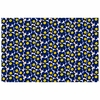 Marimekko Mini-Unikko Indigo / Yellow Fabric