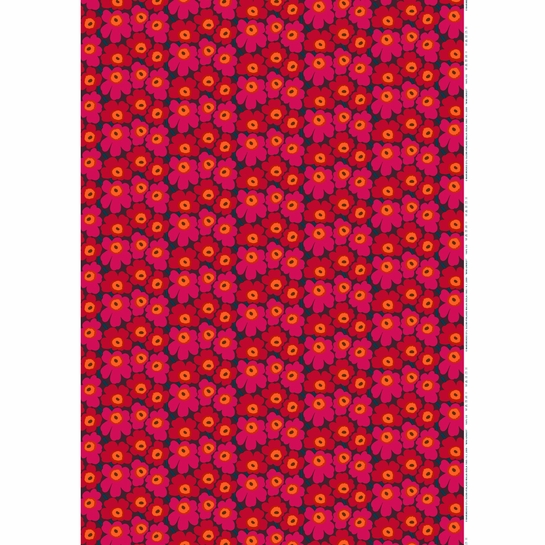 Marimekko Mini Unikko Plum / Red Fabric