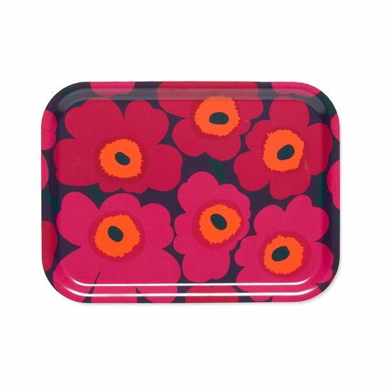 Marimekko Mini-Unikko Plum / Red Small Tray