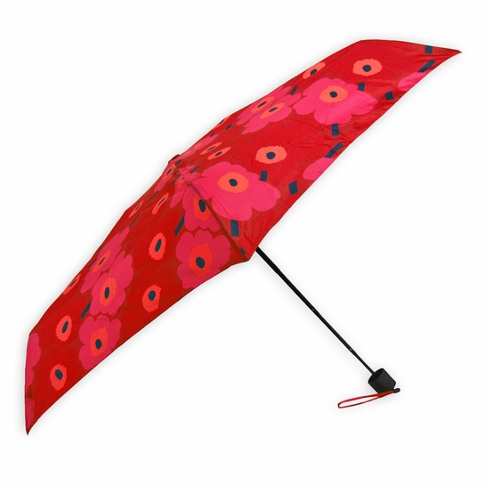 Marimekko Mini-Unikko Red Mini-Manual Umbrella