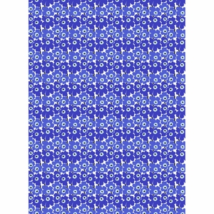 Marimekko Mini-Unikko White / Blue Cotton Fabric