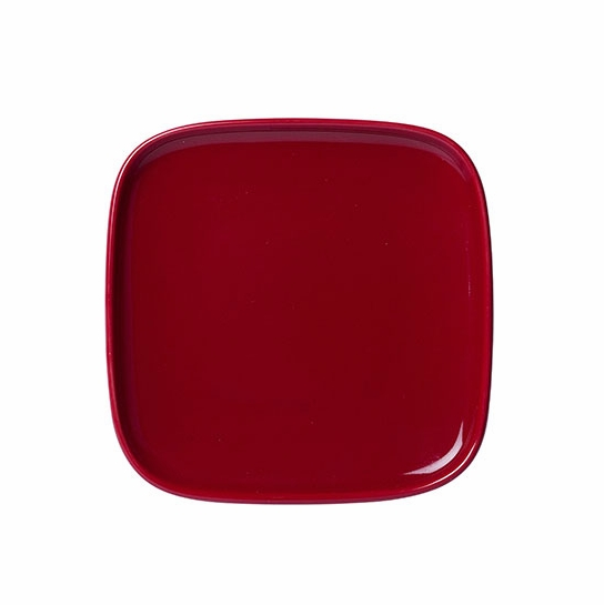Marimekko Oiva Red Small Square Plate  sc 1 st  FinnStyle & Marimekko Oiva Red Small Square Plate - Marimekko Oiva Solid Color ...