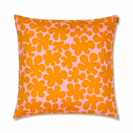 Marimekko Paprika Pink / Orange Throw Pillow