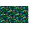 Marimekko Pieni Siirtolapuutarha Green / Turquoise Acrylic-Coated Cotton Fabric