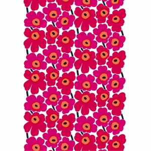 Marimekko Pieni Unikko Red Cotton Fabric