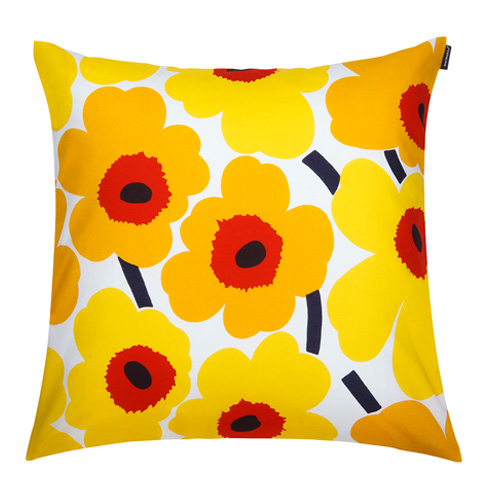 Red And Yellow Decorative Pillows : Marimekko Pieni Unikko Yellow/Red Throw Pillow - Marimekko Throw Pillows & Blankets