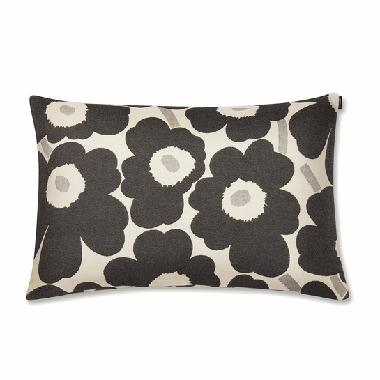 Marimekko Pieni Unikko Cream / Black Lounge Pillow