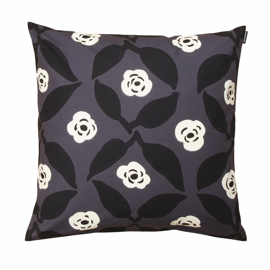 Marimekko Poppy Grey / White / Black Throw Pillow
