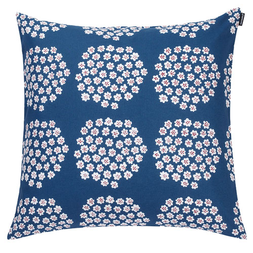 Blue White Throw Pillow : Marimekko Puketti Blue/White Throw Pillow - Marimekko Fabric & Throw Pillow Sale