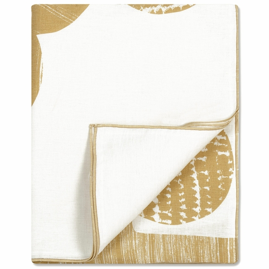 Marimekko Puu Gold / White Tablecloth