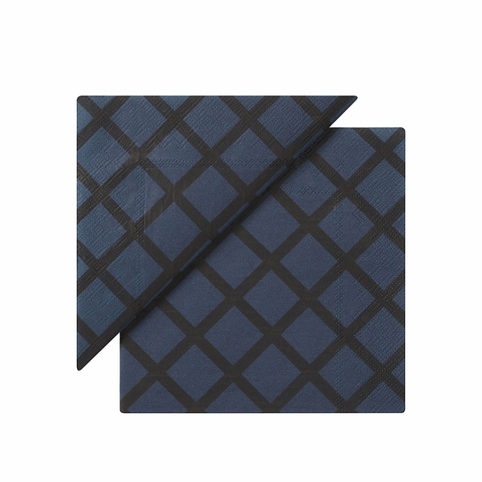 Marimekko Quilt Dark Blue Cocktail Napkins