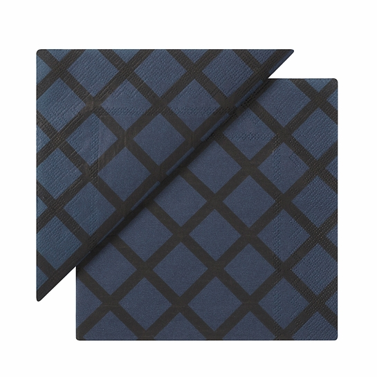 Marimekko Quilt Dark Blue Lunch Napkins