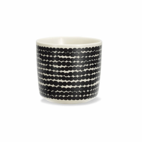 Marimekko Räsymatto Black/White Coffee Cup