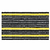 Marimekko Räsymatto Black / Yellow PVC-Coated Cotton Fabric