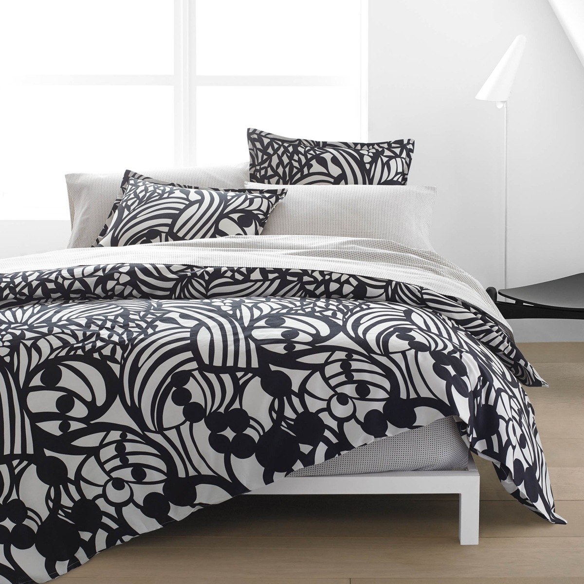 marimekko raakel duvet cover set twin marimekko raakel muru percale bedding. Black Bedroom Furniture Sets. Home Design Ideas