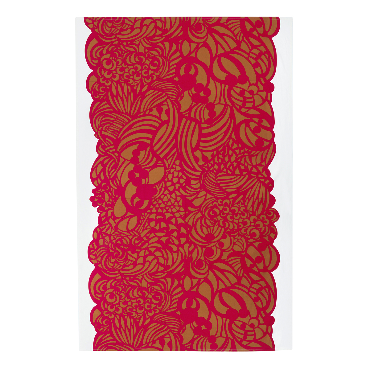 Marimekko Raakel Ochre / Red Tablecloth