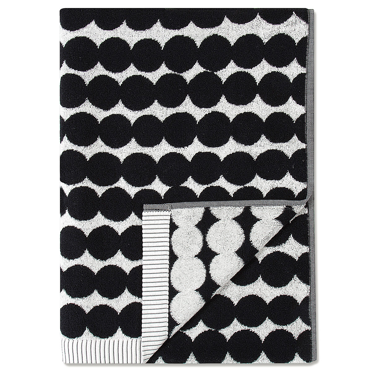 Marimekko Rasymatto Black White Bath Towel