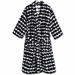Marimekko Rasymatto Black / White Bathrobe