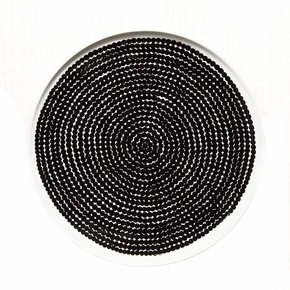 Marimekko Rasymatto Black / White Dinner Plate