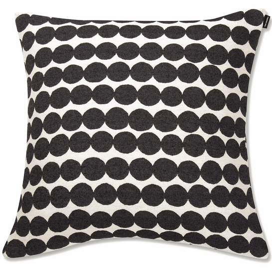 Marimekko Rasymatto Black / White Large Throw Pillow