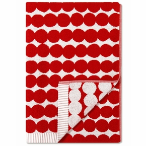 Marimekko Rasymatto Red / White Bath Towel