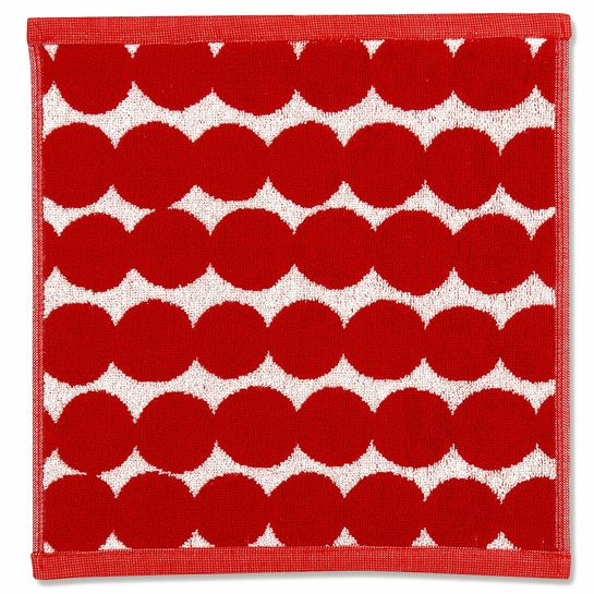 Marimekko Rasymatto Red / White Washcloth