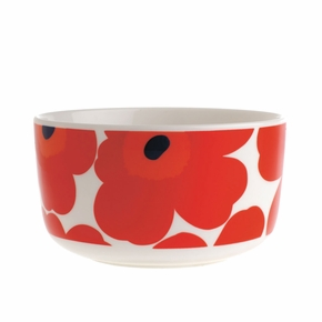 Marimekko Red Unikko Cereal / Soup Bowl