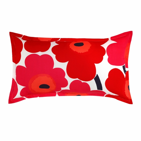 Marimekko Red Unikko King Pillow Sham
