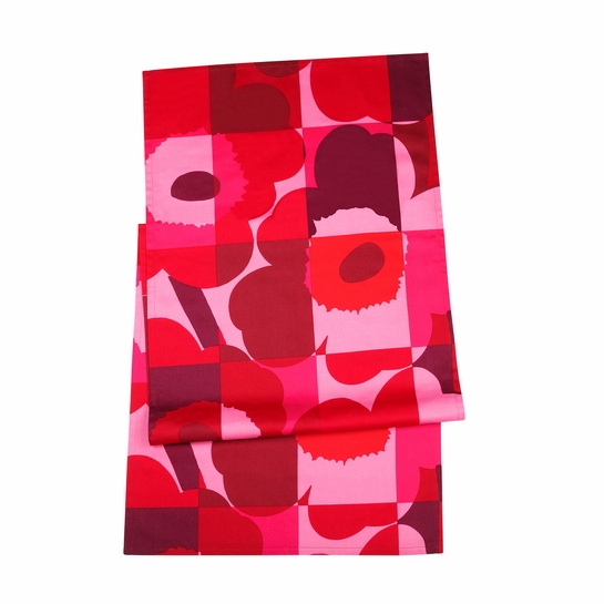 Marimekko Ruutu-Unikko Red/Pink Table Runner