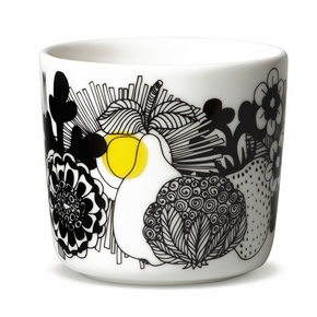 Marimekko Siirtolapuutaha Black / Yellow Coffee Cup