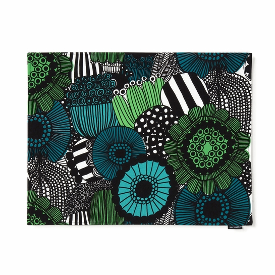 Marimekko Siirtolapuutarha Green Acrylic-Coated Cotton Placemat