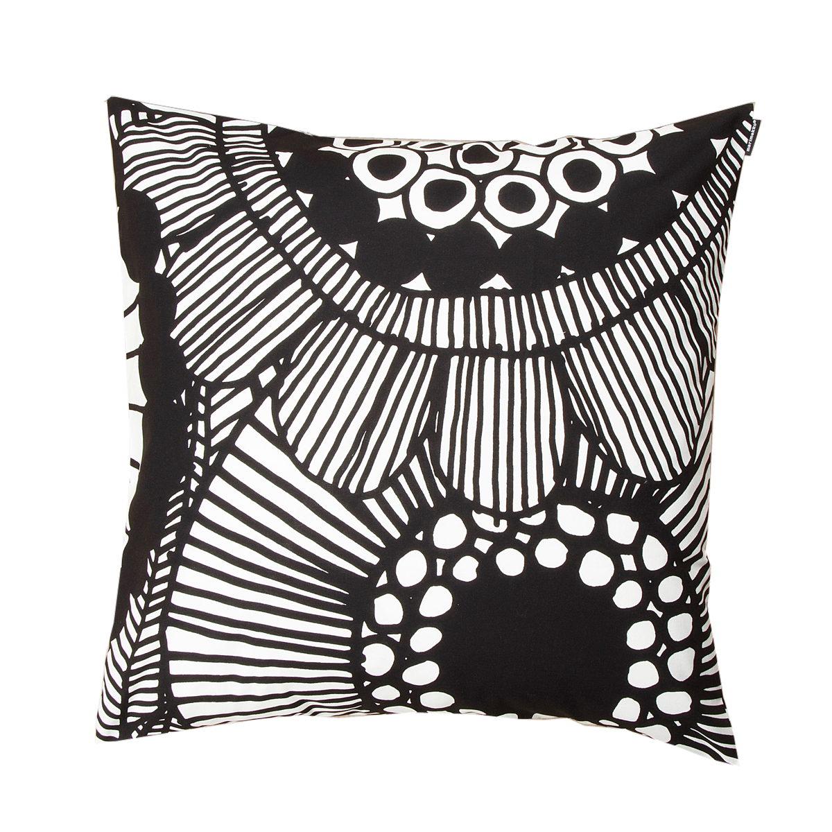 Oversized White Decorative Pillows : Marimekko Siirtolapuutarha White / Black Large Throw Pillow - Marimekko Fabric & Throw Pillow Sale